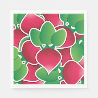 Funky radish disposable napkins