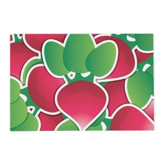 Funky radish laminated place mat