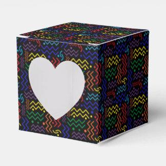 Funky Rainbow Memphis Design Favor Box