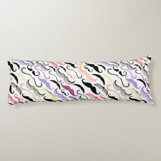 Funky Rainbow Mustache Design Body Pillow