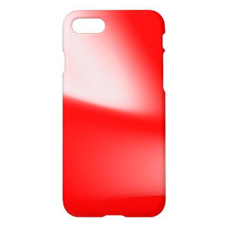 Funky Red and White Waves iPhone 8/7 Case