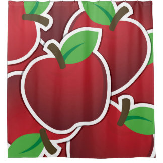 Funky red apples