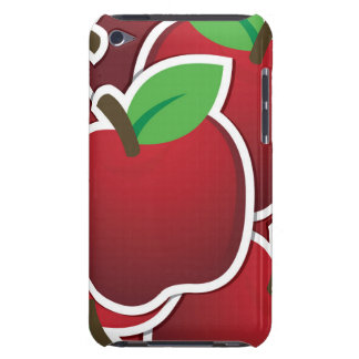 Funky red apples barely there iPod case