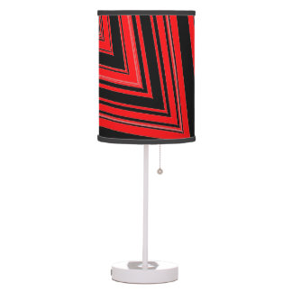 Funky Red Black Geometric 4Tom Table Lamp
