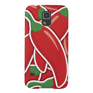 Funky red chilli peppers galaxy s5 covers