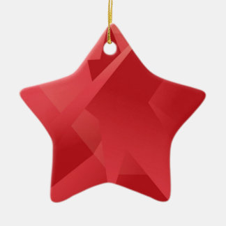 Funky Red Collection Ceramic Star Ornament
