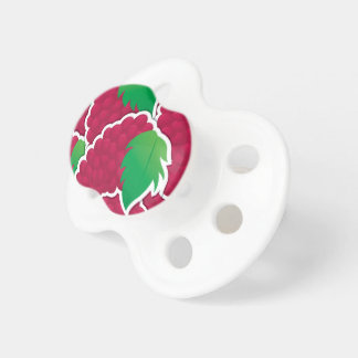 Funky red grapes baby pacifiers