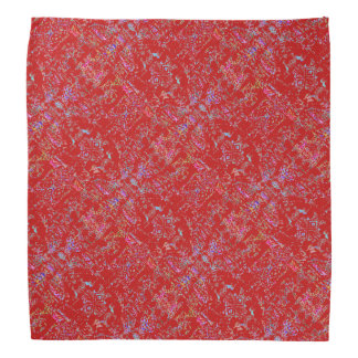 Funky Red Patterned Bandana