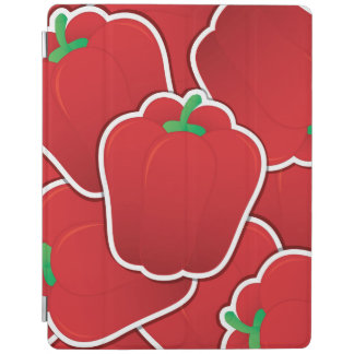 Funky red pepper iPad cover