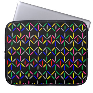 funky retro bold on black sleeve case