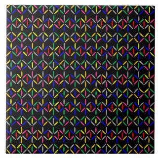 funky retro bold on black tiles