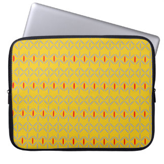 funky retro bold on mustard sleeve case
