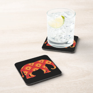 Funky Retro Circles Elephant Coasters