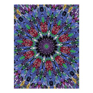 Funky Retro Color Craze Kaleidoscope Flyer Design