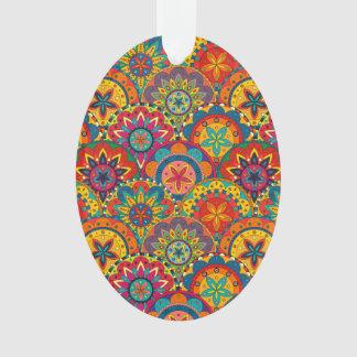 Funky Retro Colorful Mandala Pattern