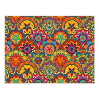 Funky Retro Colorful Mandala Pattern Art Photo