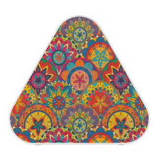 Funky Retro Colorful Mandala Pattern Blueooth Speaker