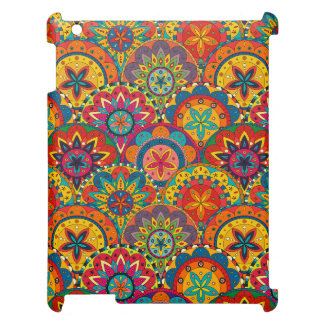 Funky Retro Colorful Mandala Pattern Case For The iPad 2 3 4
