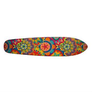 Funky Retro Colorful Mandala Pattern Custom Skate Board