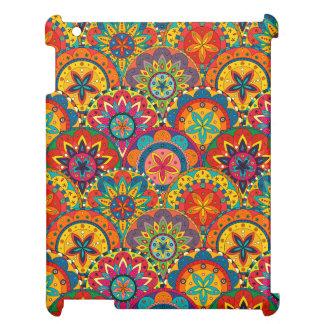 Funky Retro Colorful Mandala Pattern iPad Case