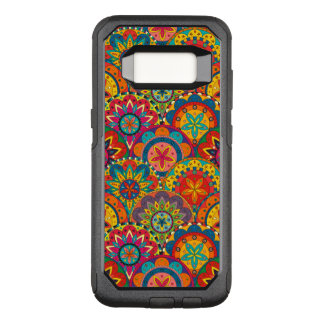 Funky Retro Colorful Mandala Pattern OtterBox Commuter Samsung Galaxy S8 Case