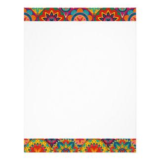 Funky Retro Colorful Mandala Pattern Personalized Letterhead