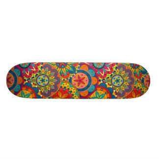 Funky Retro Colorful Mandala Pattern Skate Board Decks