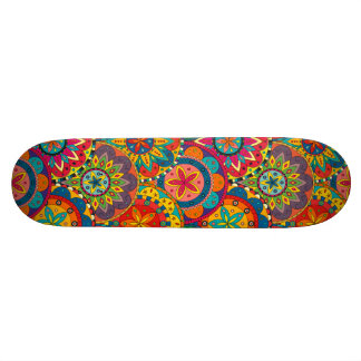 Funky Retro Colorful Mandala Pattern Skate Board Decks
