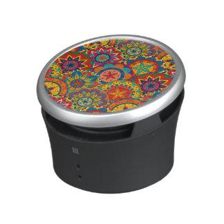 Funky Retro Colorful Mandala Pattern Speaker