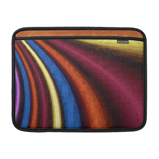funky retro colorful pattern MacBook air sleeves