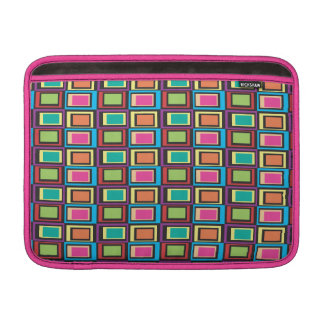 funky retro colorful pattern sleeve for MacBook air