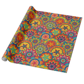 Funky Retro Colourful Mandala Pattern