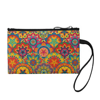 Funky Retro Colourful Mandala Pattern Coin Purse