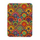 Funky Retro Colourful Mandala Pattern Magnet
