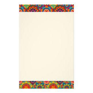 Funky Retro Colourful Mandala Pattern Stationery