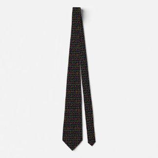 Funky retro diamond bars tie