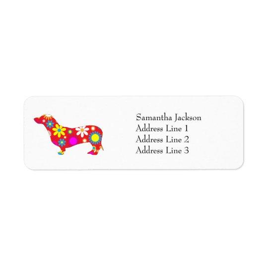 Funky retro floral dachshund dog custom