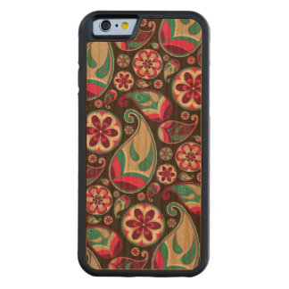Funky Retro Paisley Pattern Carved Cherry iPhone 6 Bumper Case