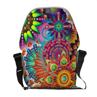 Funky Retro Pattern Abstract Bohemian Commuter Bag