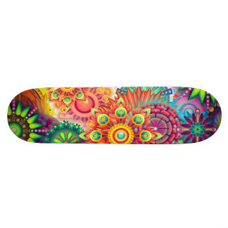 Funky Retro Pattern Abstract Bohemian Custom Skateboard