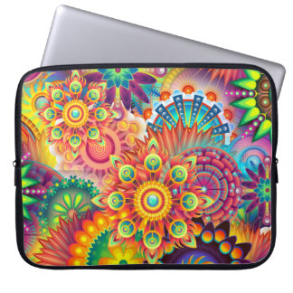 Funky Retro Pattern Abstract Bohemian Laptop Sleeve