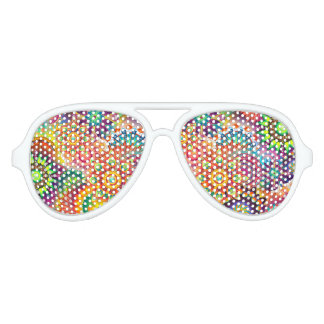Funky Retro Pattern Abstract Bohemian Sunglasses