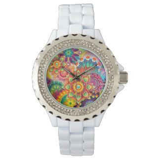 Funky Retro Pattern Abstract Bohemian Watch