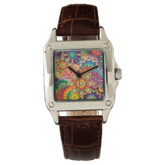 Funky Retro Pattern Abstract Bohemian Wristwatch
