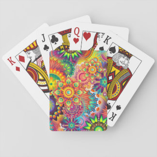 Funky Retro Pattern Abstract Boho Playing Cards