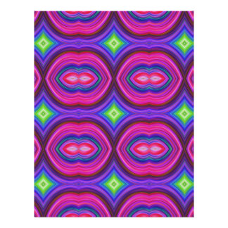 Funky Retro Pattern Pink Purple and Multicolor Flyer