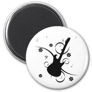 Funky retro pop rock guitar magnet