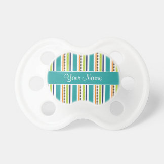 Funky Retro Stripes and Spots Baby Pacifier