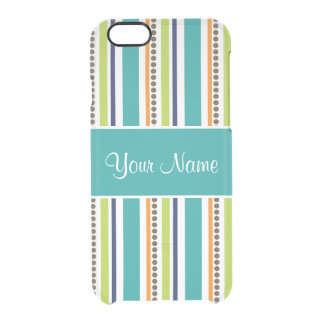 Funky Retro Stripes and Spots Clear iPhone 6/6S Case