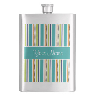 Funky Retro Stripes and Spots Flasks